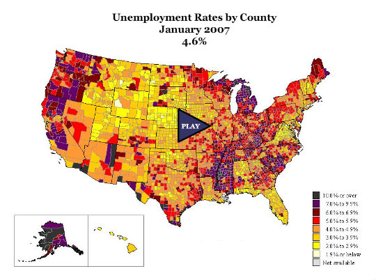 Geographic Illustration of Unemployment Data